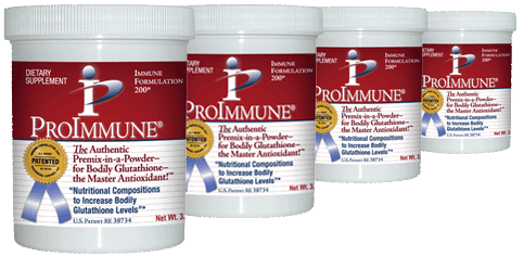 """Photo of Row of ProImmune Powder Jars"""